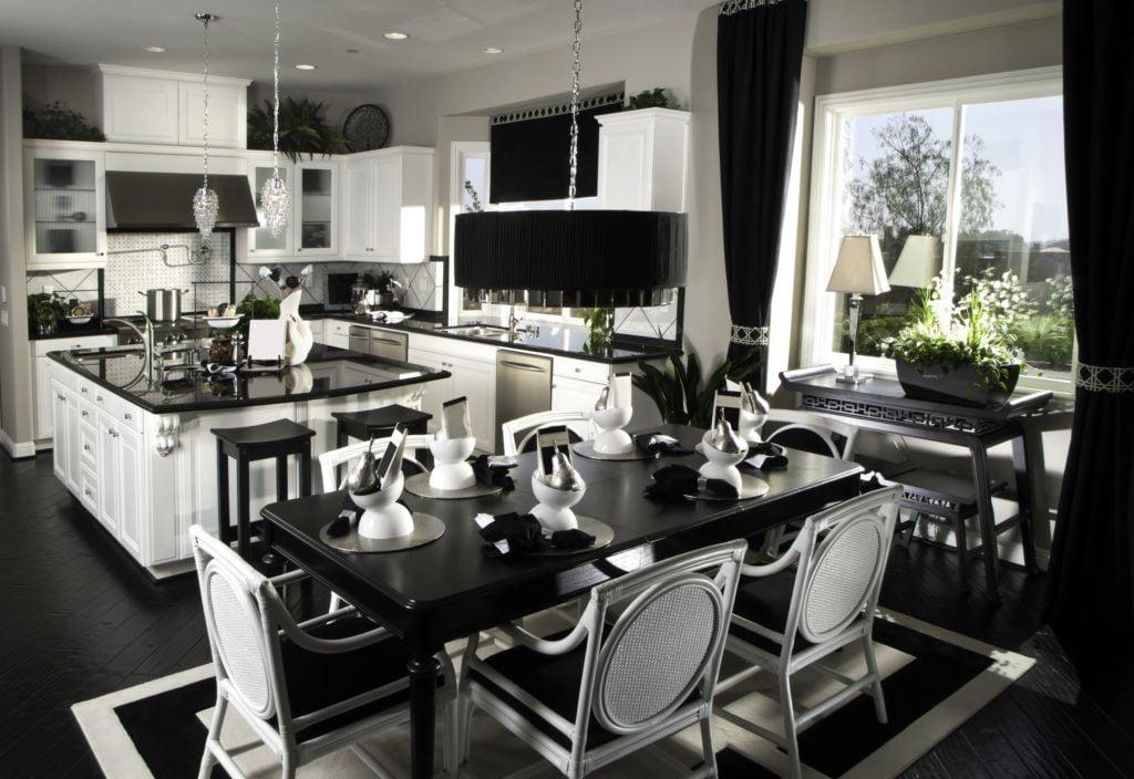 Black and White Mansion Kitchen