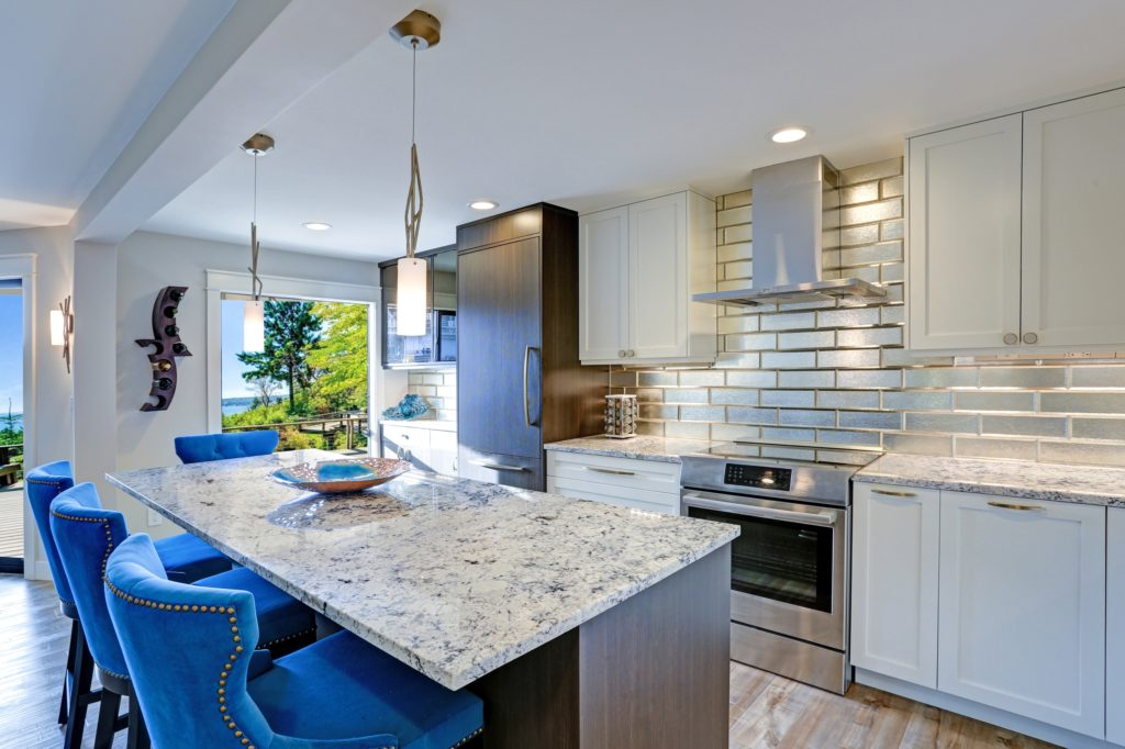 Blue Detailed Kitchen