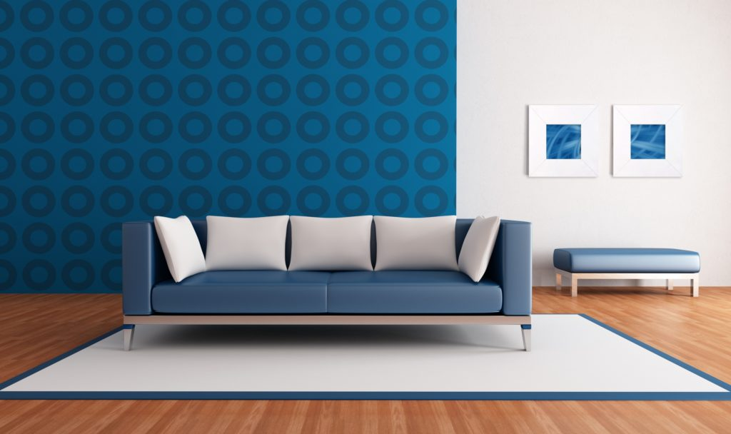 Blue Home Lounge Couch for Your Family Room or Den