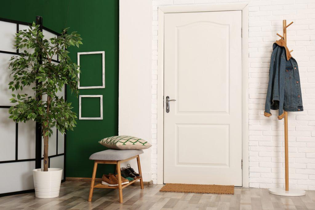 Bright Green House Entrance Decor