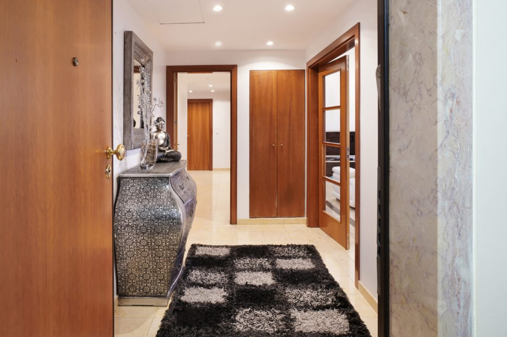 Brown and Black House Entrance Decor
