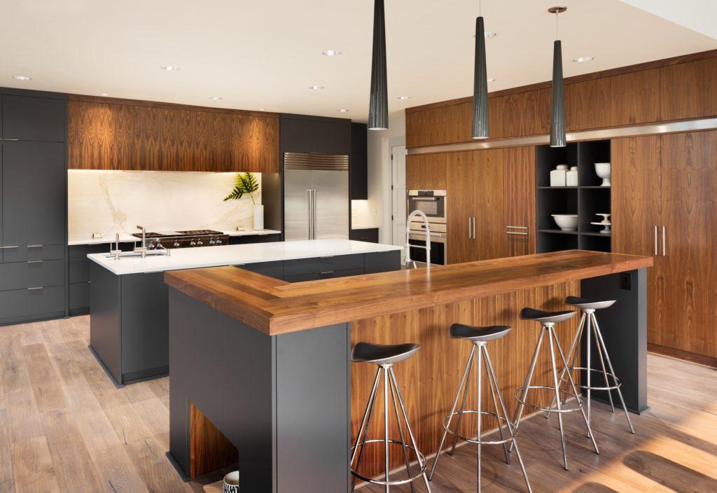 Brown and Black Mansion Kitchen