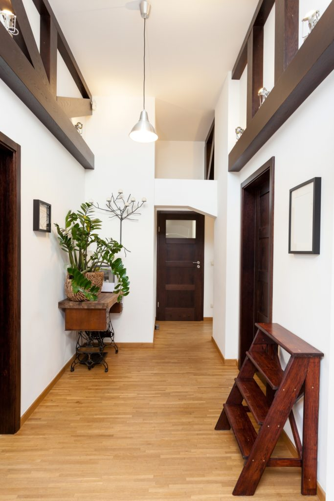 Brown and White Entrance Decor