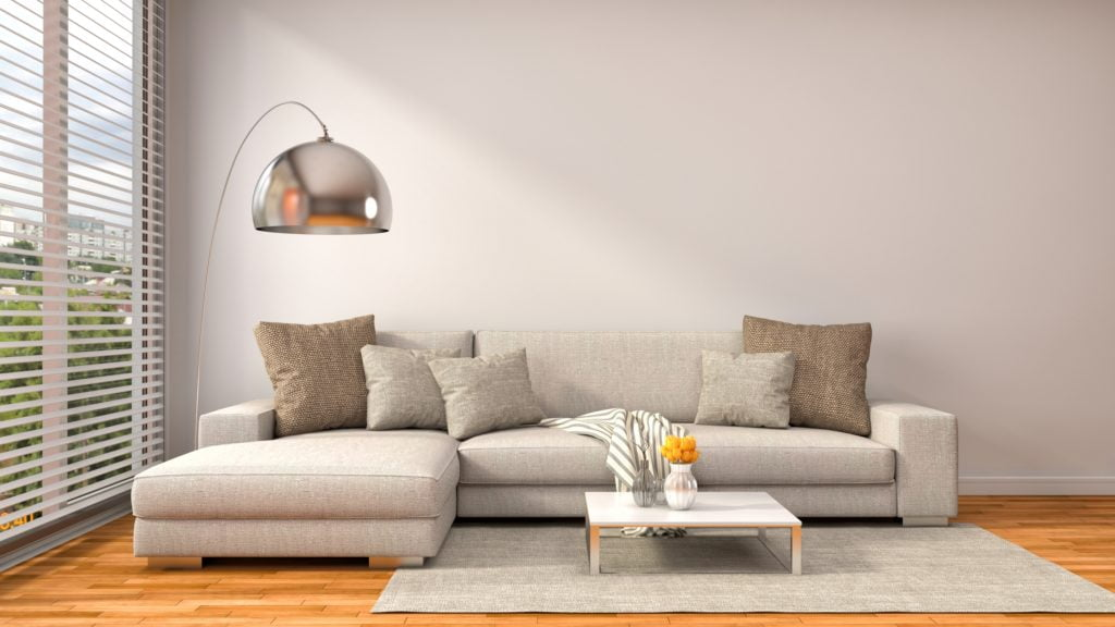 Casual-Chic Den Decor with Light Brown Wall