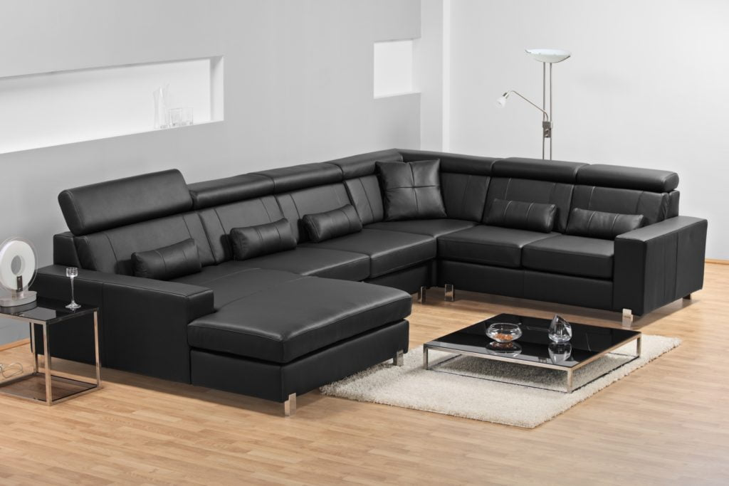 Contemporary-Chic Large Sectional in Sleek Ebony Hues