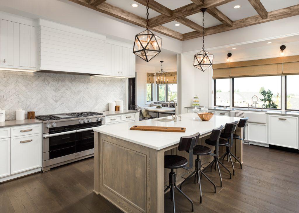 Geometric Lights Luxury Kitchen