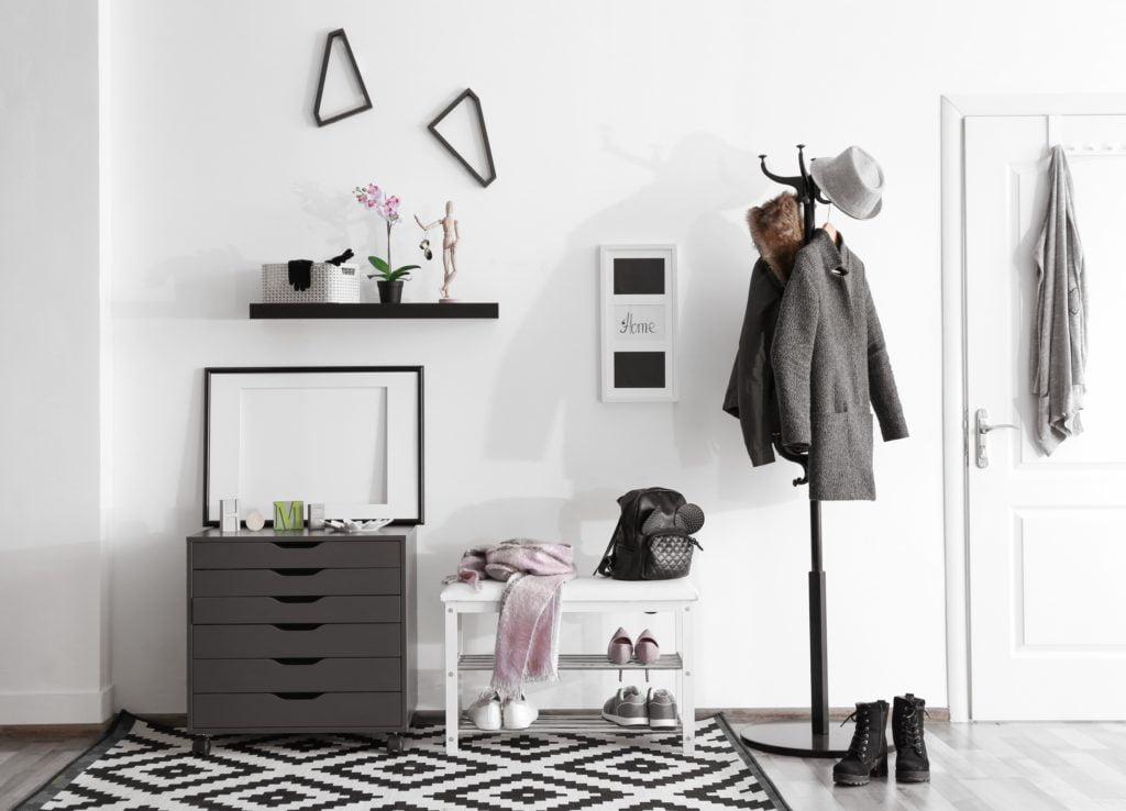 Gray and White Entrance Decor