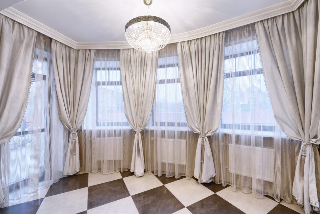 Kitchen Window Checkered Floor