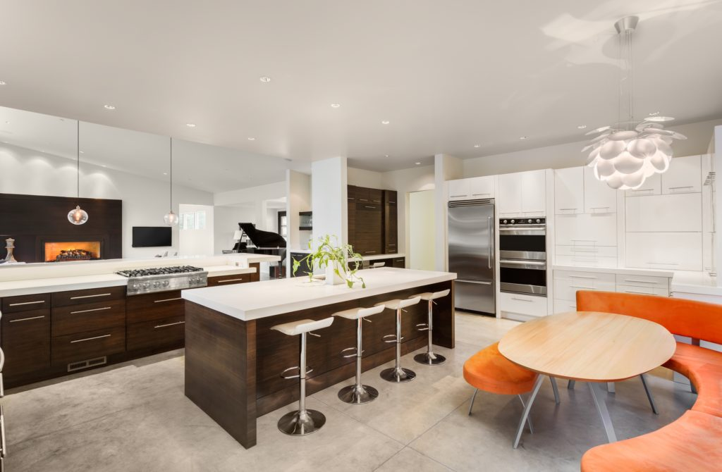 Mansion Kitchen with Many Seats