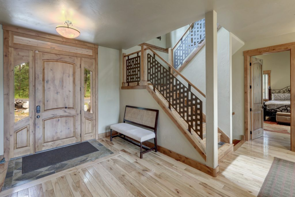 Metal Staircase House Entrance Decor