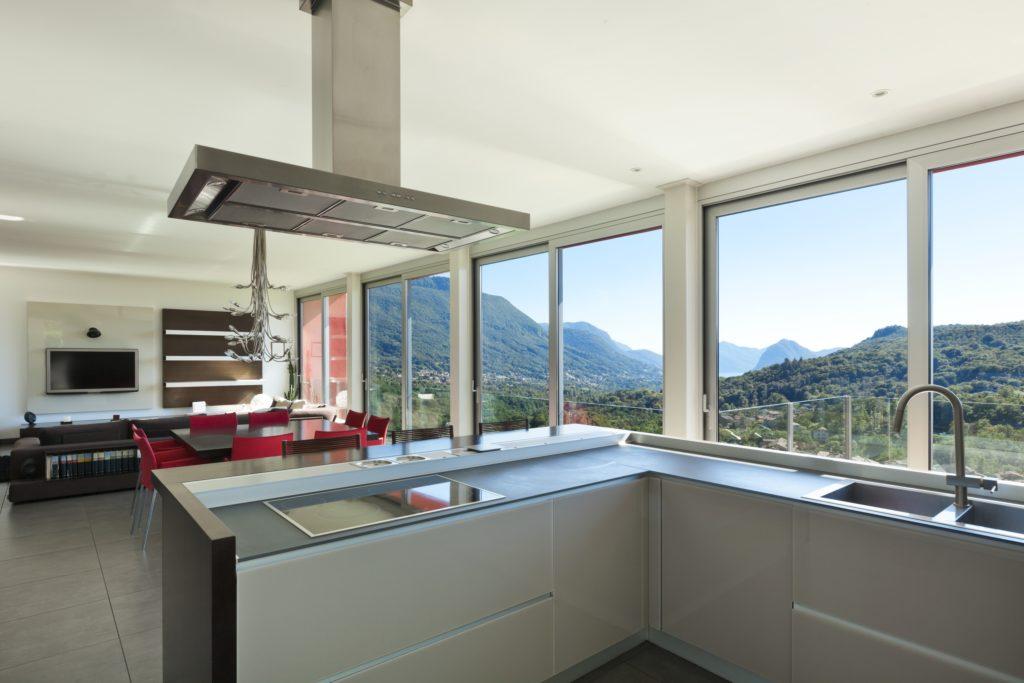 Open Modern Mansion Kitchen