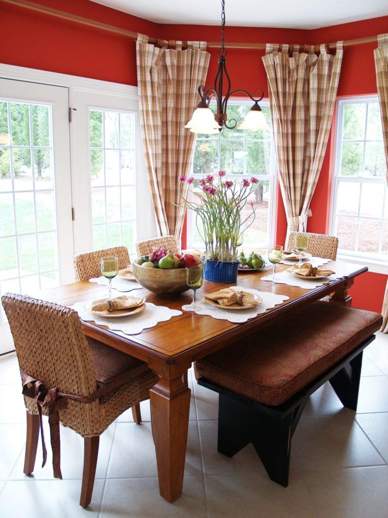 Plaid Kitchen Window Curtains