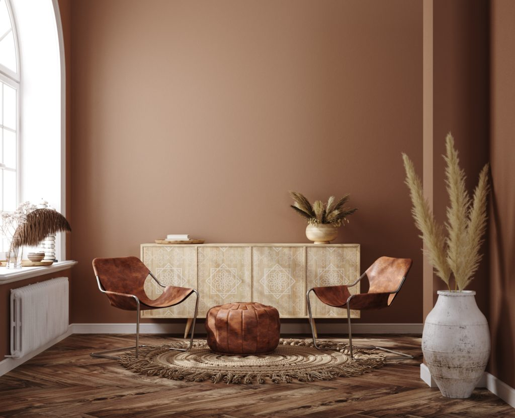Room with Warm Brown Walls