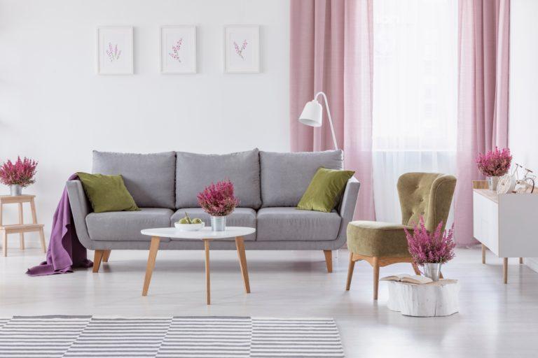 Sheer Pink Curtains