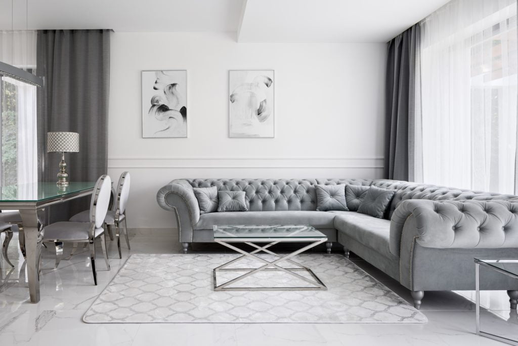 Silver Couch Living Room