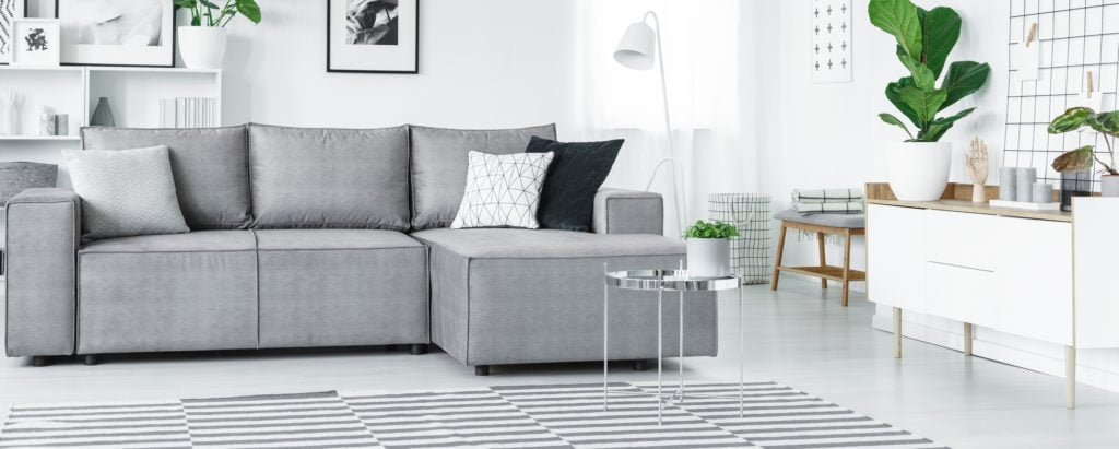 Silver Living Room Couch