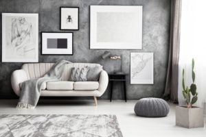 Silver Patterned Living Room