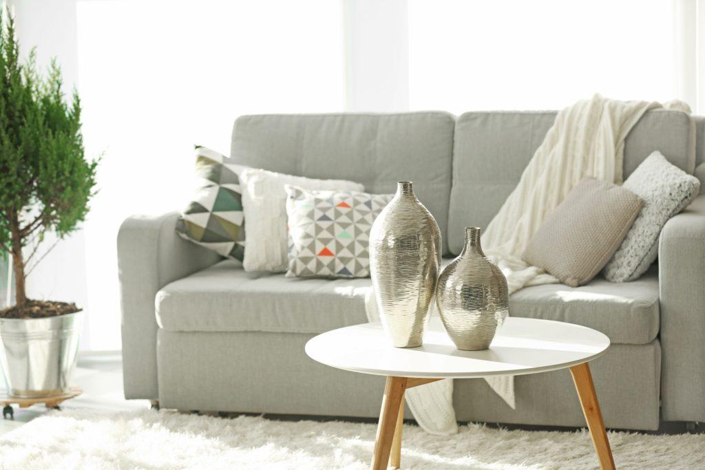 Silver Vases Living Room