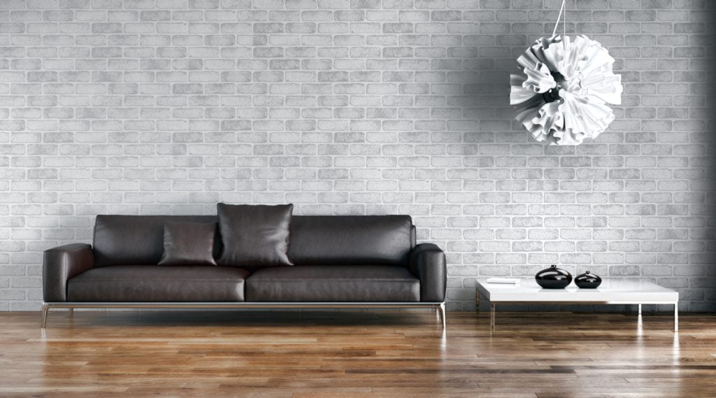 Sleek Minimalist Sofa Design in Deep Grey Leather