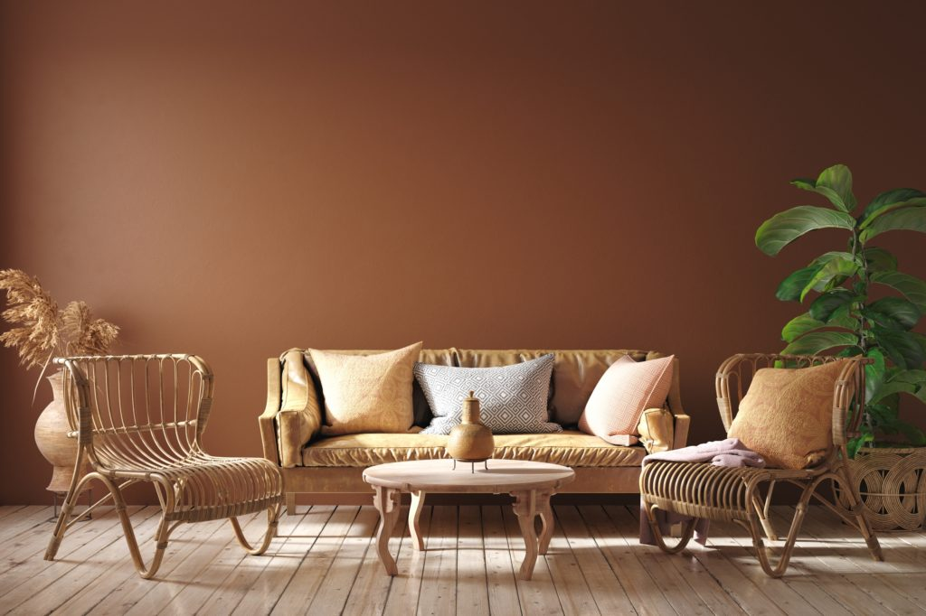 Terracotta Wall Color for a Casual and Elegant Interior