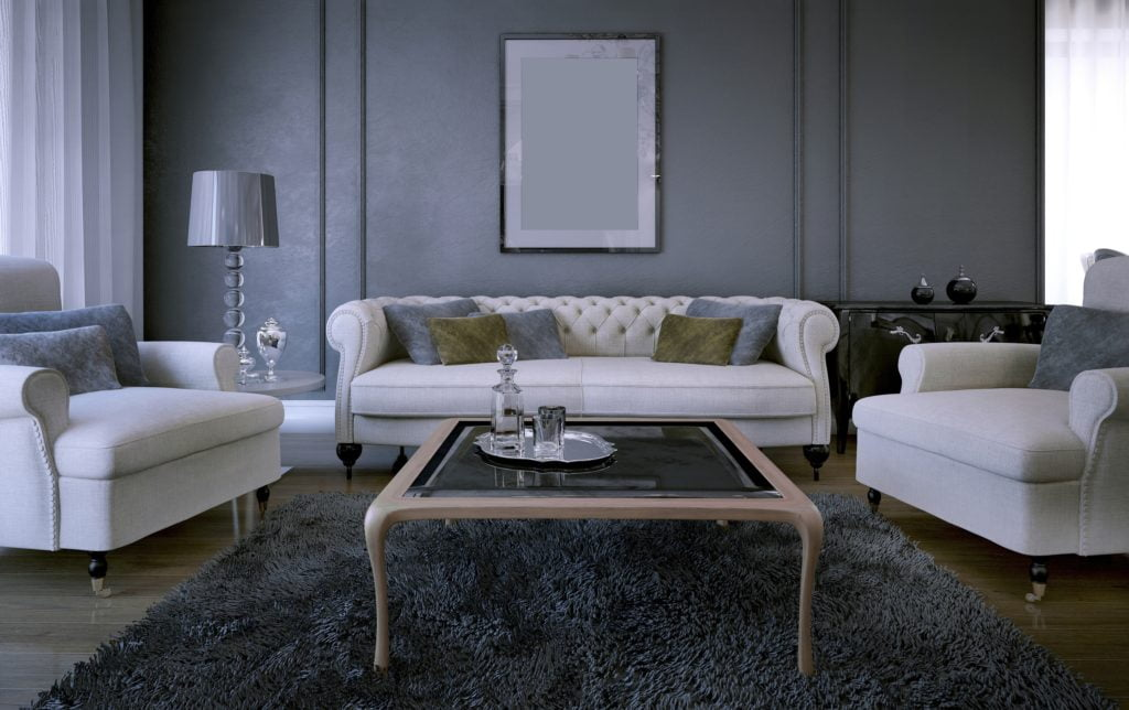 White Couches Living Room