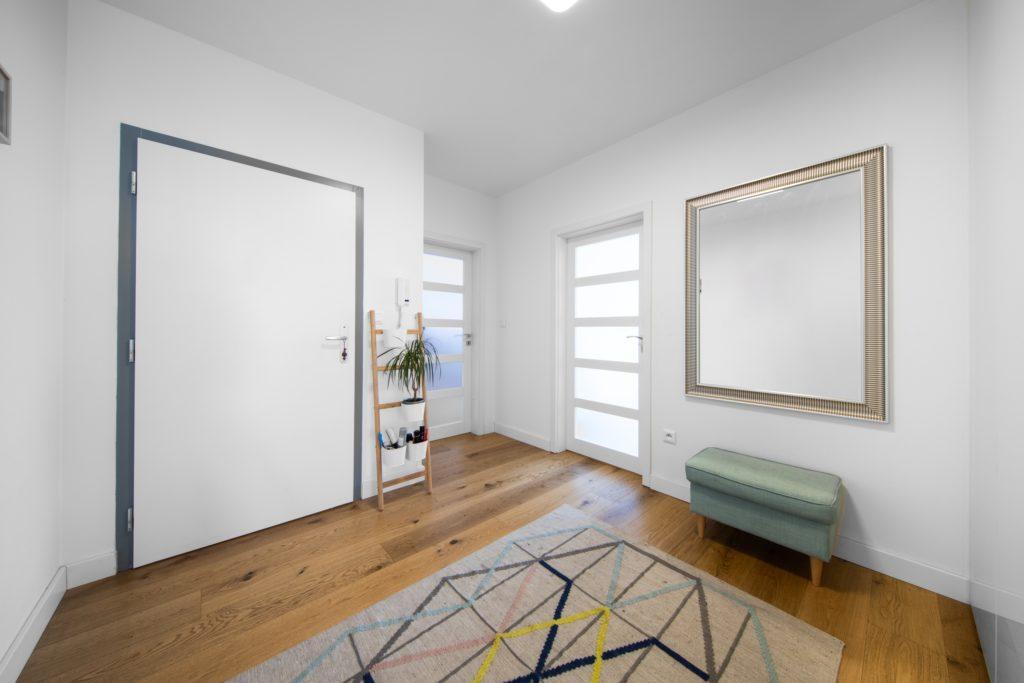 White Home Entrance Decor