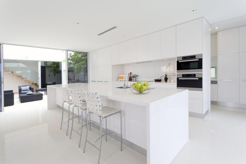 White Minimal Mansion Kitchen