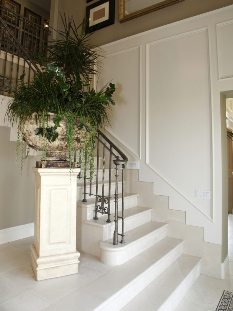 White Stairs House Entrance Decor
