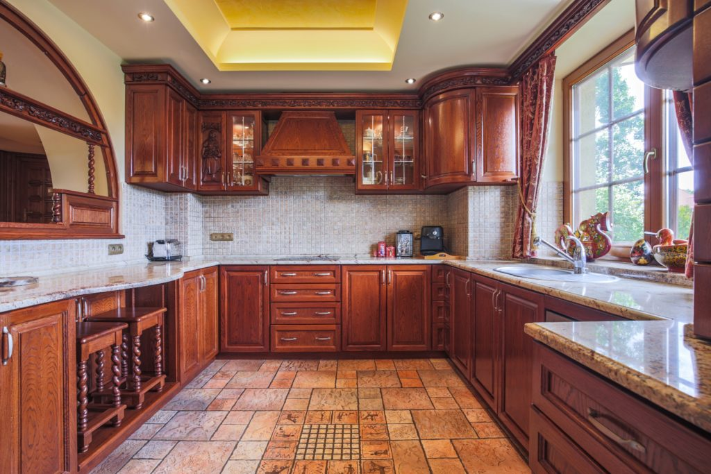Wood Detailed Mansion Kitchen