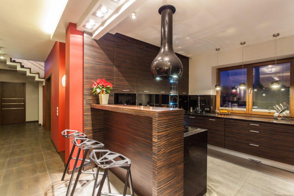 Wood Modern Mansion Kitchen