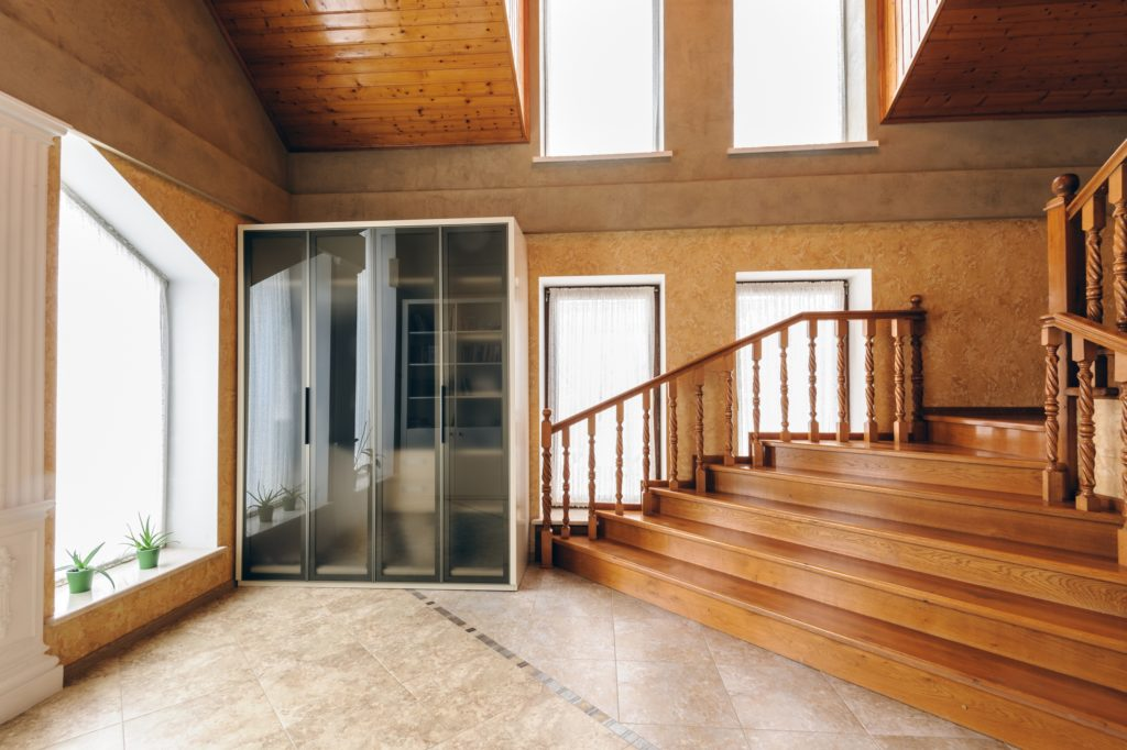 Wood Stairs House Entrance Decor