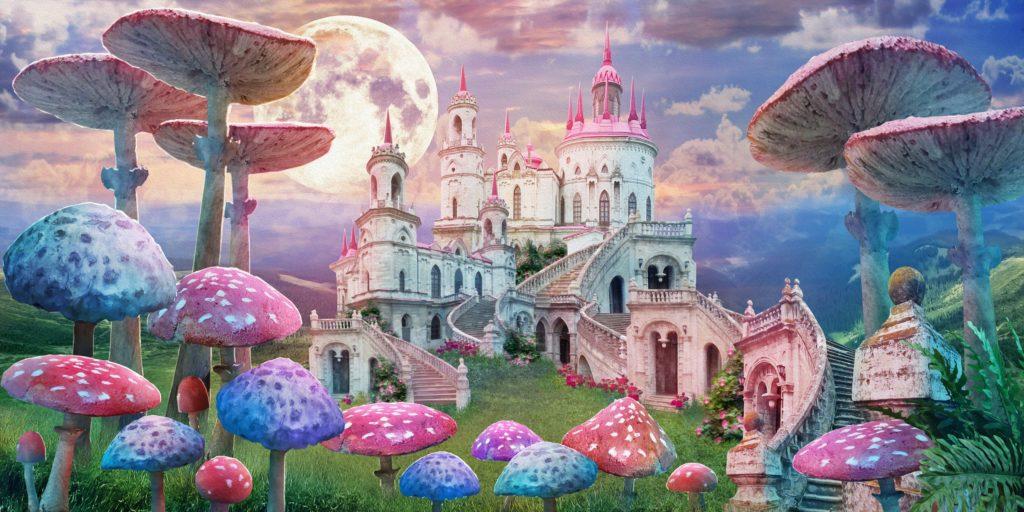 Alice in Wonderland shower curtains