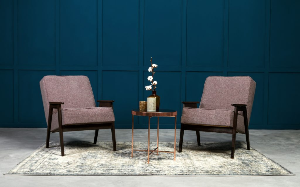 Armchairs and Copper Table