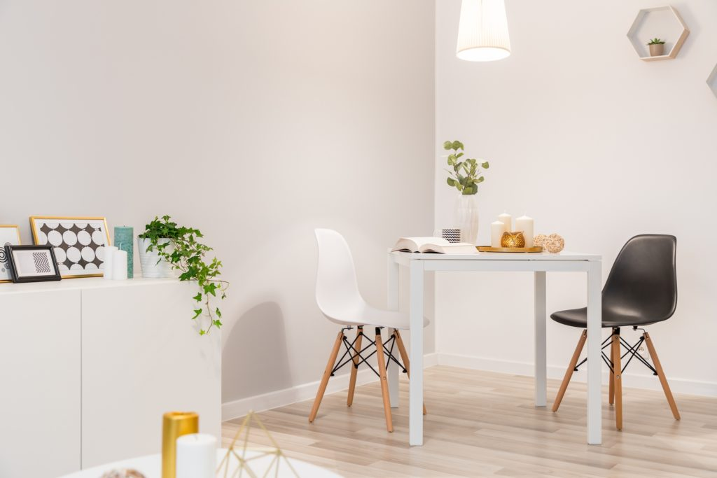 Black and White Chairs and Table