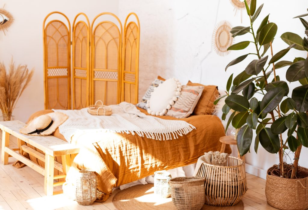 Boho Orange Bedroom