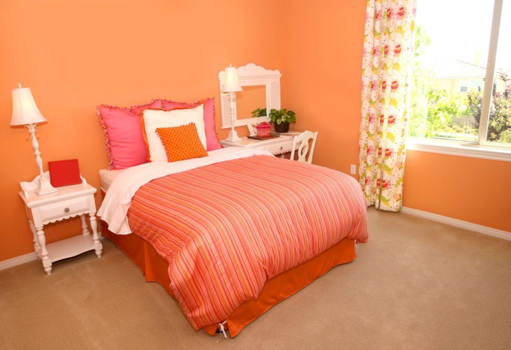 Bright Orange Bedroom