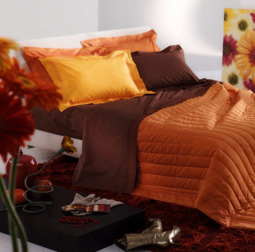 Brown Orange Bedroom