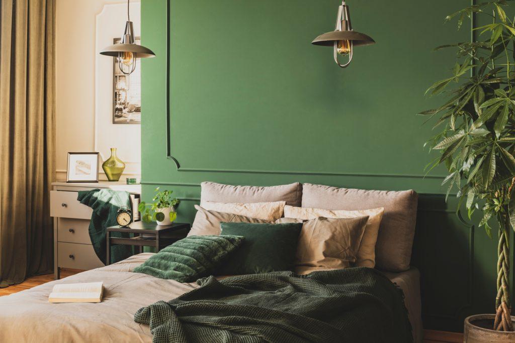 Dark Olive-Green Curtains