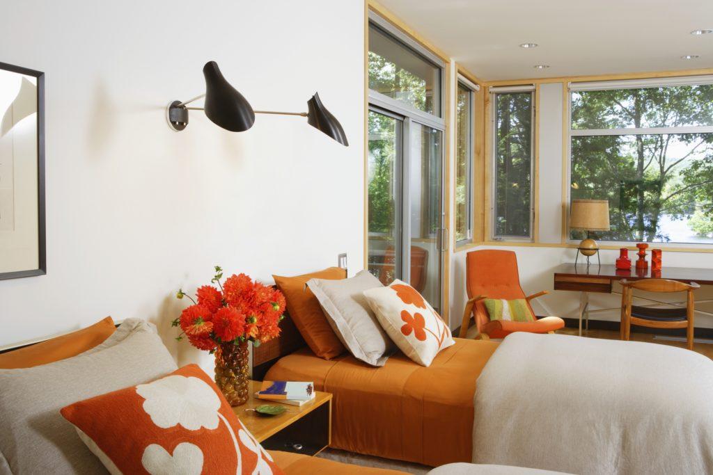 Dark Orange Bedroom