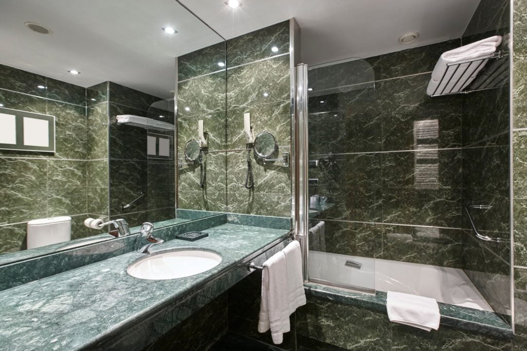 Forest Green Bathroom