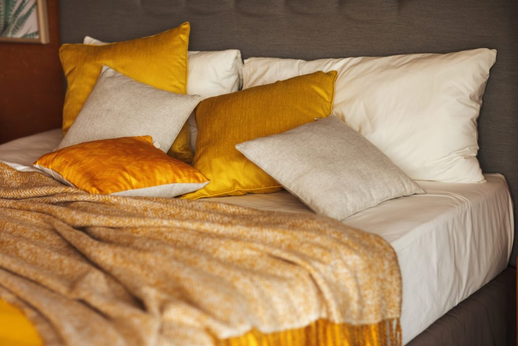 Gold Orange Bedroom