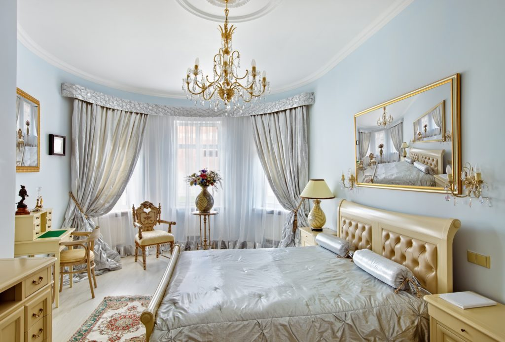 Gold and Silver Bedroom