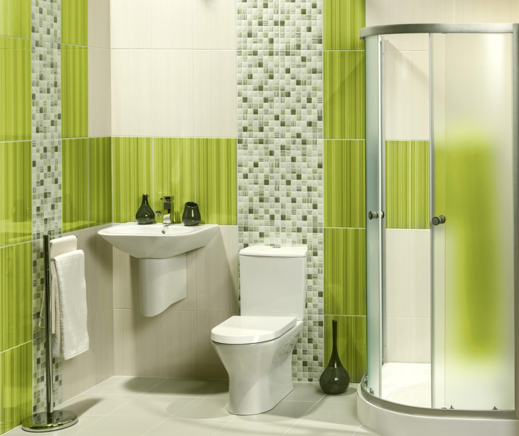Green Checkered Bathroom