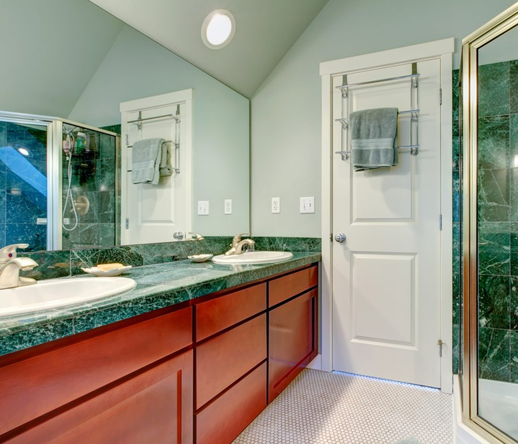 Green Countertop Bathroom