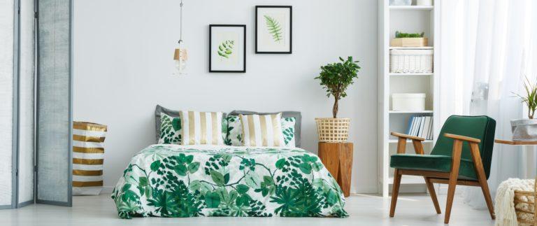 Green Plants Bedroom