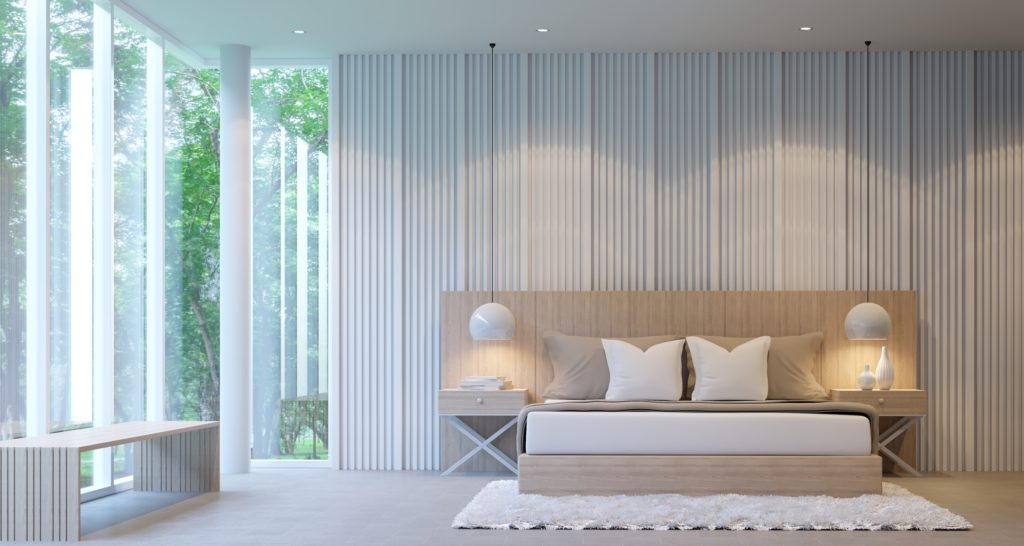 Large Windows Bedroom