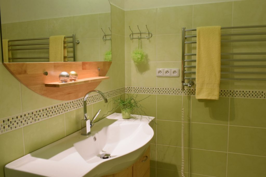 Lime Green Bathroom