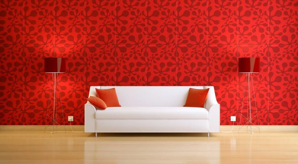 Modern Red Wallpaper
