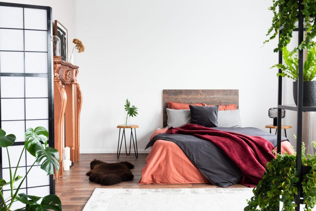 Orange Bedding Bedroom