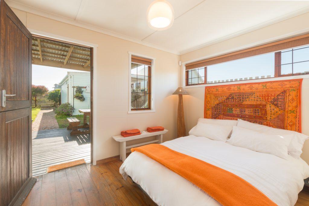 Orange Headboard Bedroom